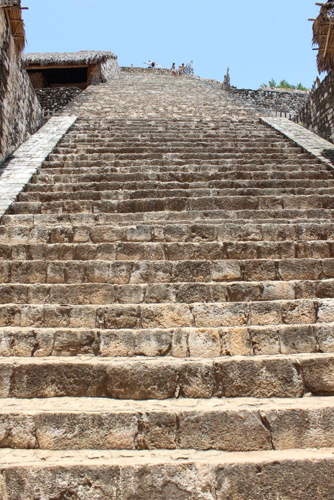 Ek Balam looking up steps