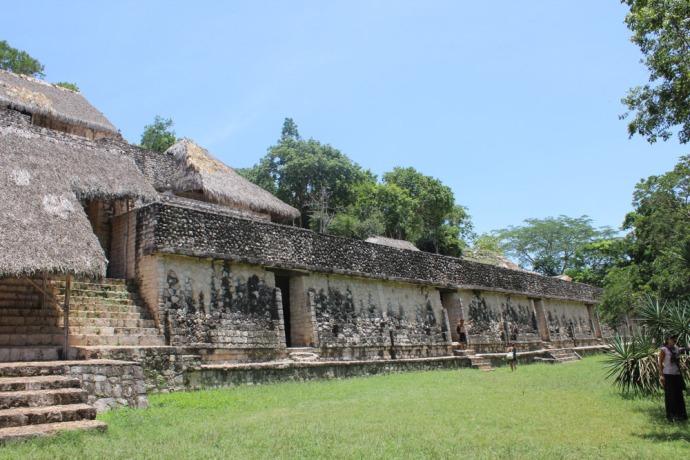 Ek Balam main temple right side
