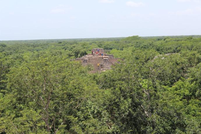 Ek Balam main temple view of other