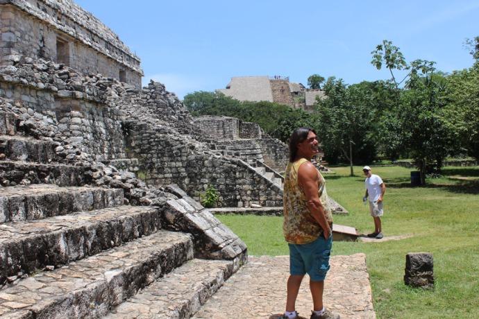 Ek Balam Skip & Wally with temples