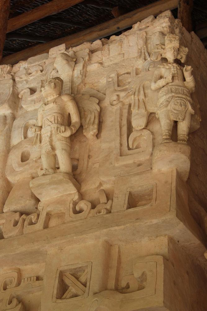 Ek Balam tomb 2 winged figures