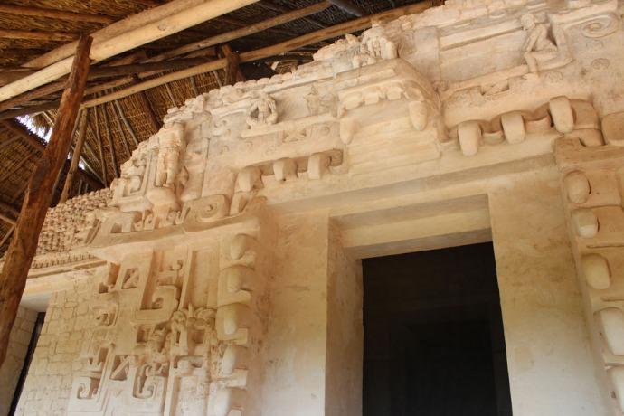 Ek Balam tomb, left of door
