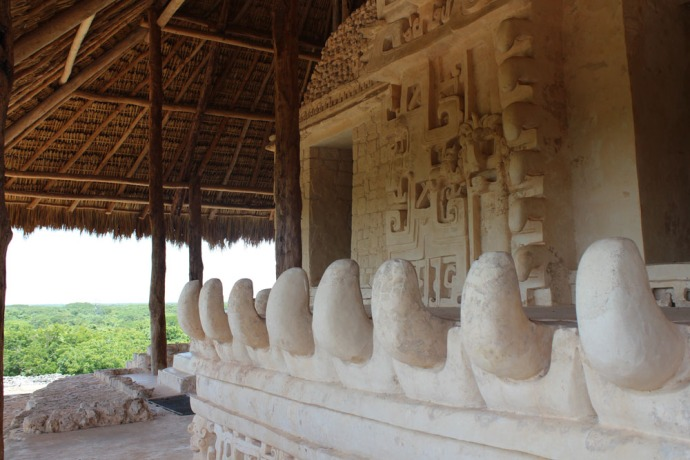 Ek Balam tomb teeth view to jungle