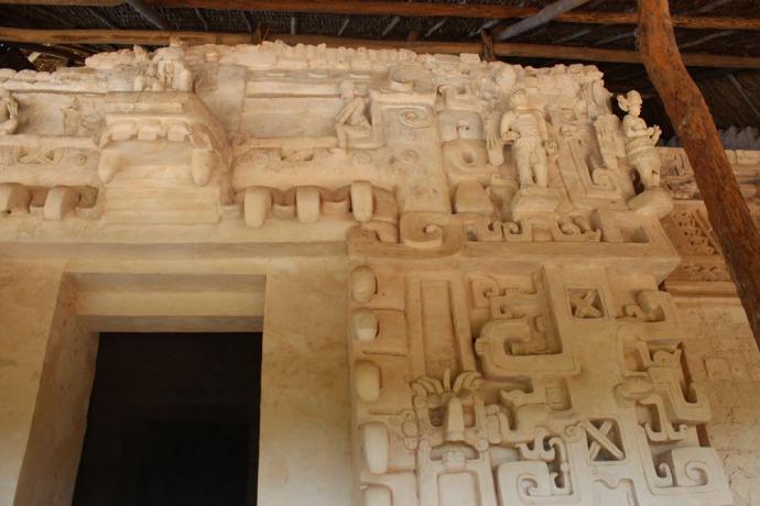 Ek Balam tomb, top right view of angels