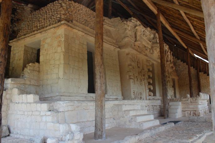 Ek Balam tomb total view