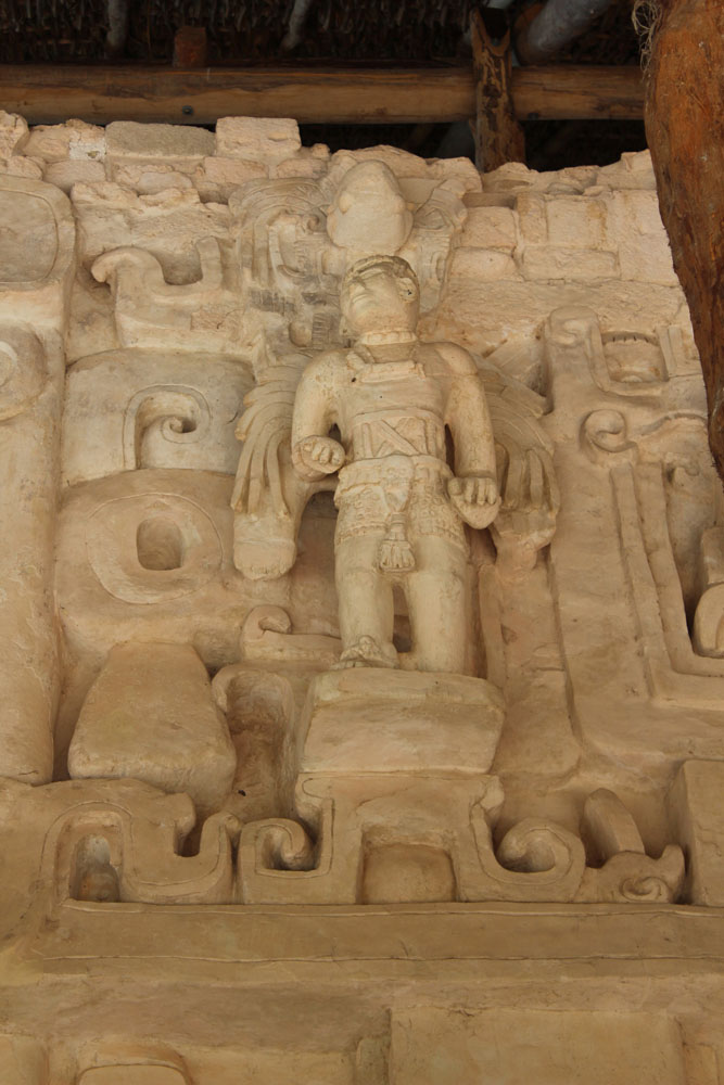 Ek Balam tomb winged angel figure