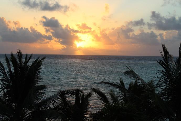 Ka'an Sunrise over bay