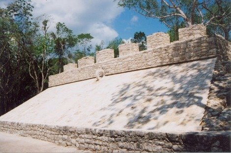 maya Ball court ruins