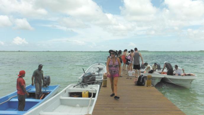 Sian Kaan boats at dock