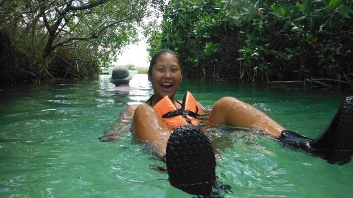 Sian Ka'an kendra floating