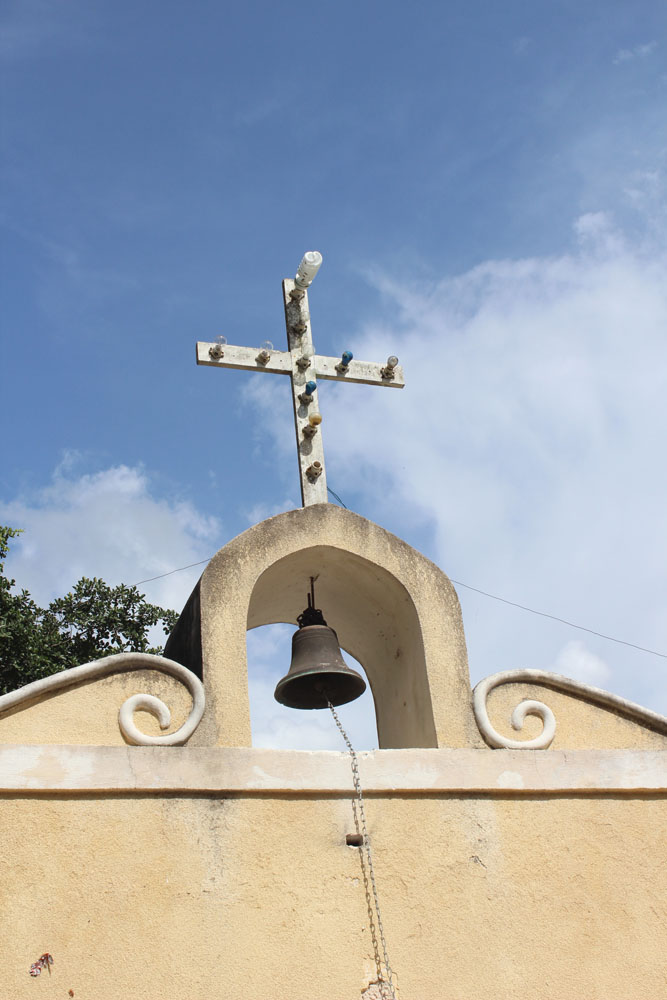 Colonial church cross & bell