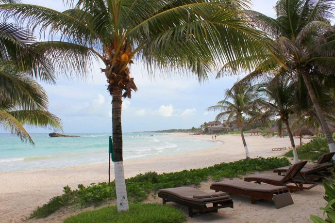 Maya Tulum beach chaises