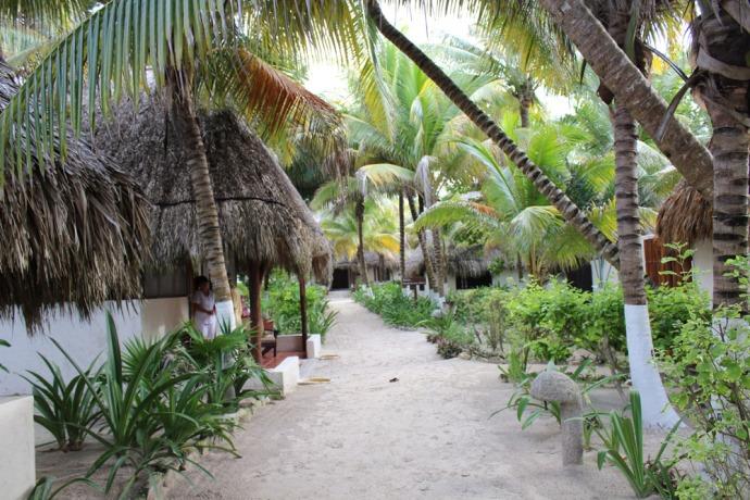 Maya Tulum massage palapa path