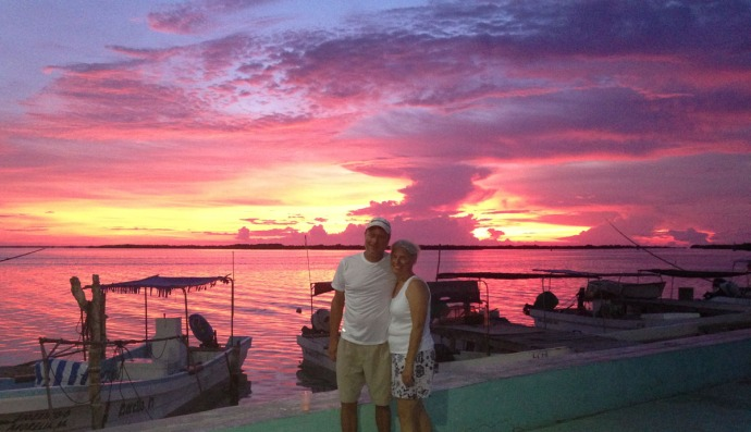 Rio Lagartos Jamie & Wally good sunset