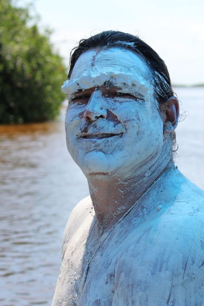 Rio Lagartos mud Skip face