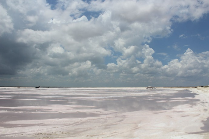 Rio Lagartos salt works plain 1