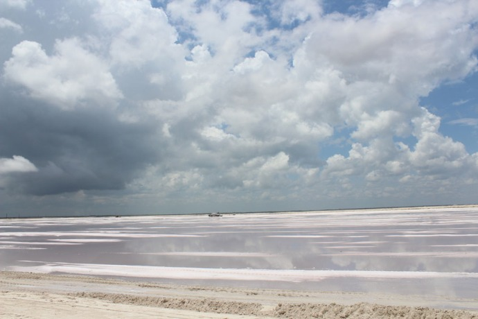 Rio Lagartos salt works plain 2