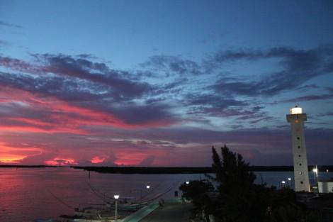 Rio Lagartos sunset lighthouse