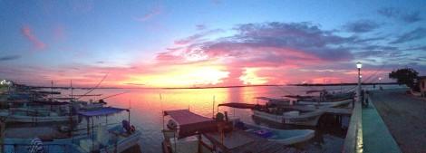 Rio Lagartos Sunset Panorama