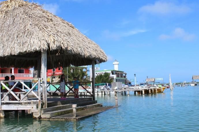 Rio Lagartos town water gazebo