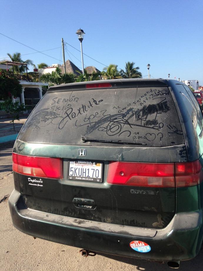 Rio Lagartos van dust
