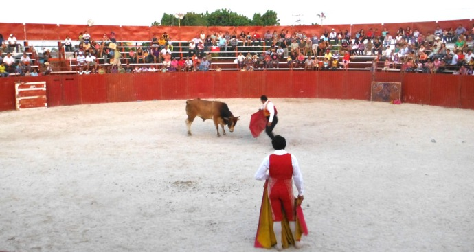 San Felipe bullfight two matadors