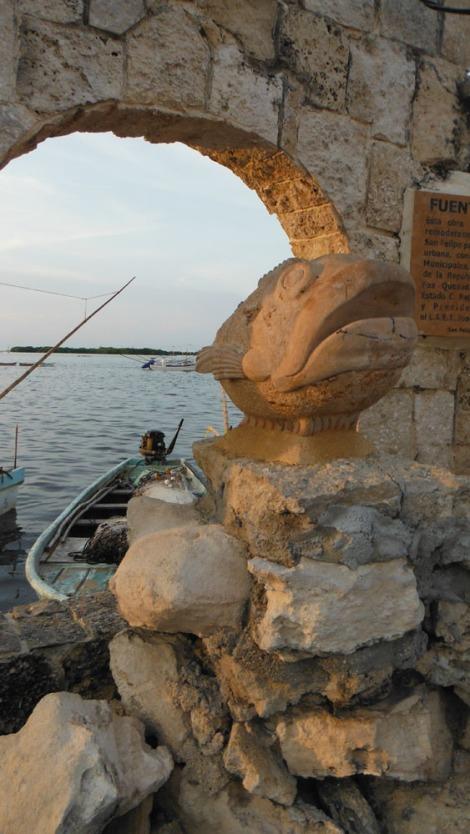 San Felipe carved fish vert