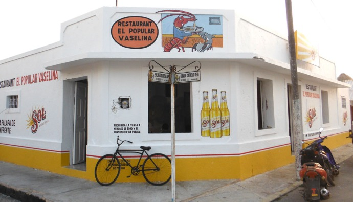 San Felipe restaurant with bike
