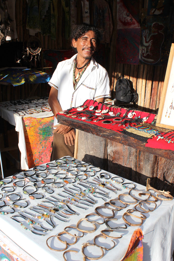 Tulum Beach jewelry guy