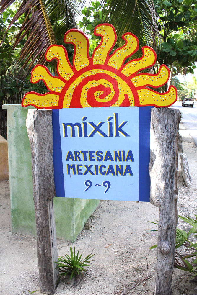 Tulum Beach Mixik sign