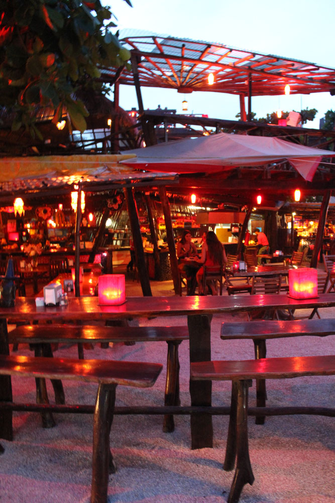 Tulum Beach Pura Corazon red lights