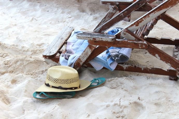 Tulum Beach Zamas hat & chair