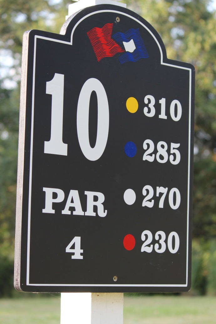 Bloody Point 10th hole sign