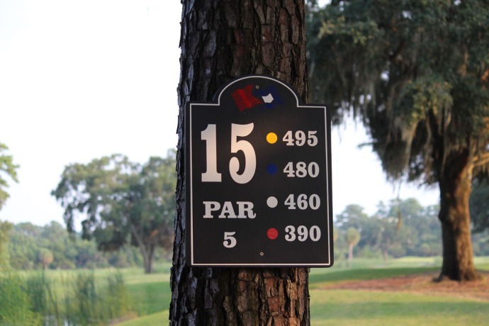 Bloody Point 15th hole sign