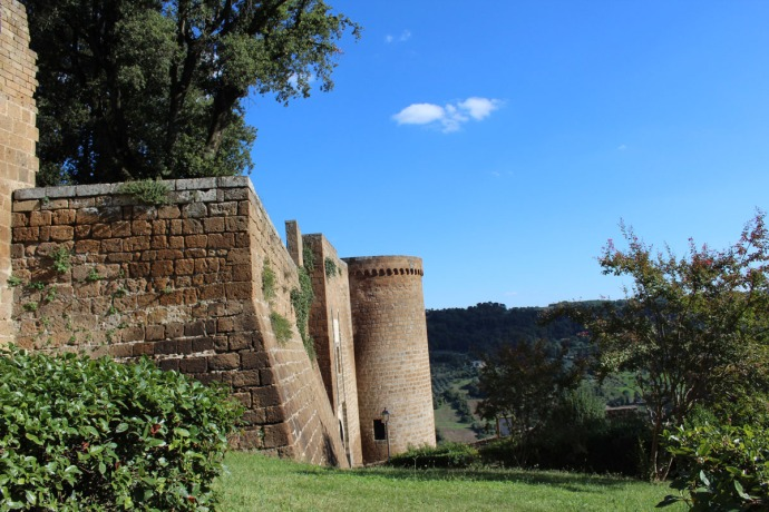 Orvieto fortress wall and tower