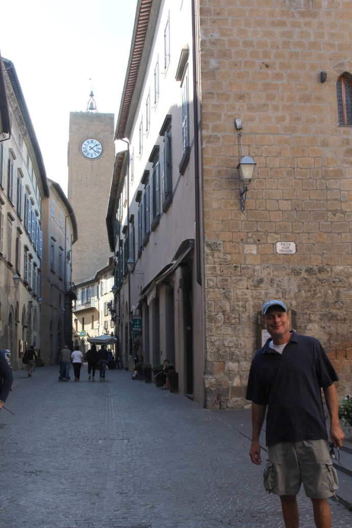 Orvieto street, bell tower, Wally