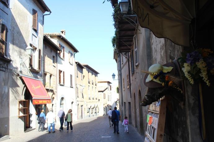 Orvieto street, boar shop