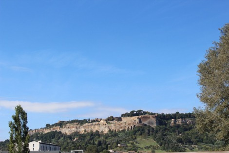 Orvieto walls around city
