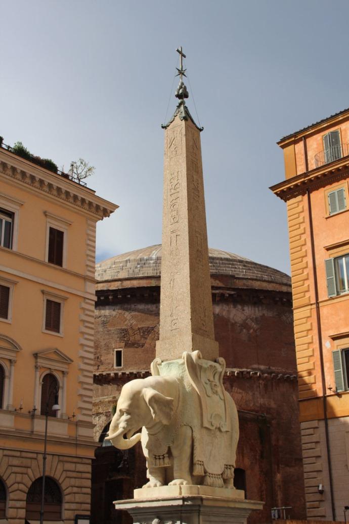 Rome Bernini Elephant Piazza della Minerva