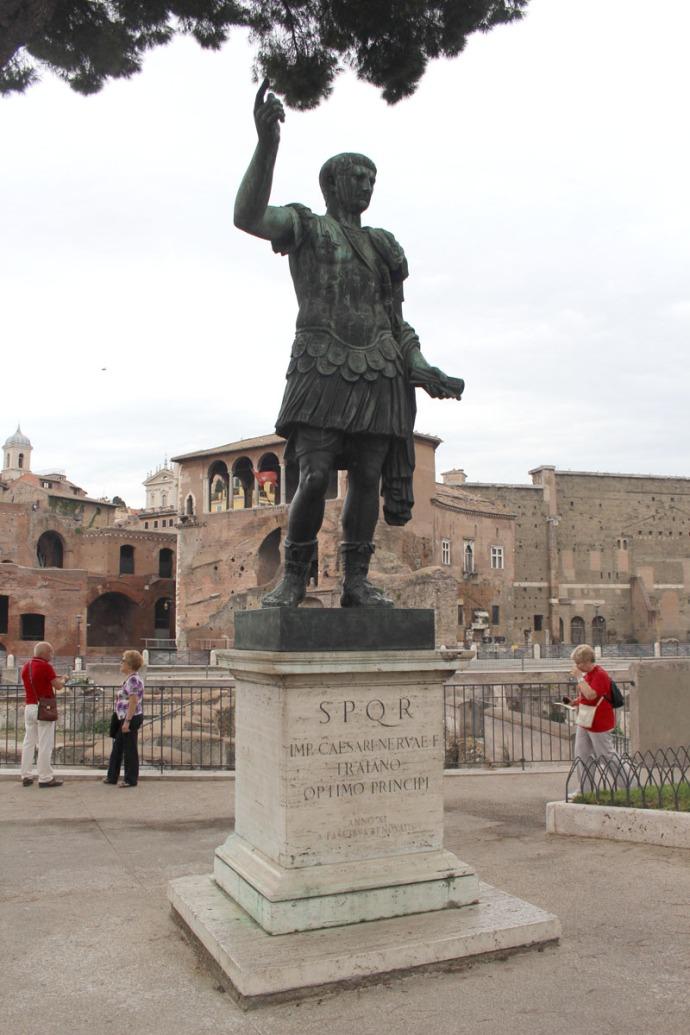 Rome Caesar statue