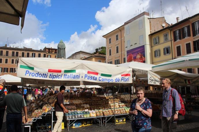 Rome Camp dei Fiori pasta tent