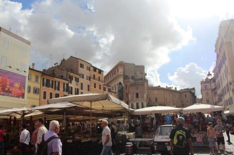 Rome Camp dei Fiori piazza view