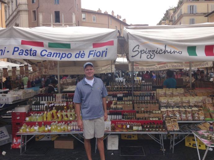 Rome Campo dei Fiori Wally and pasta