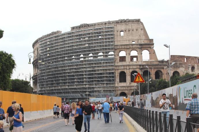 Rome Colosseum construction