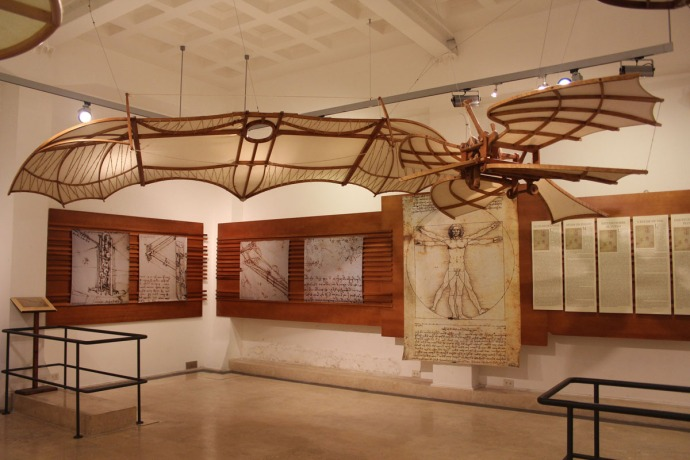 Rome da Vinci flying wings