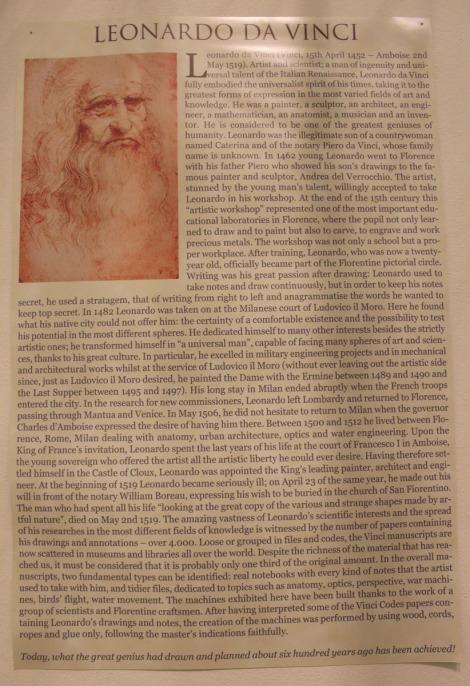 Rome da Vinci info page