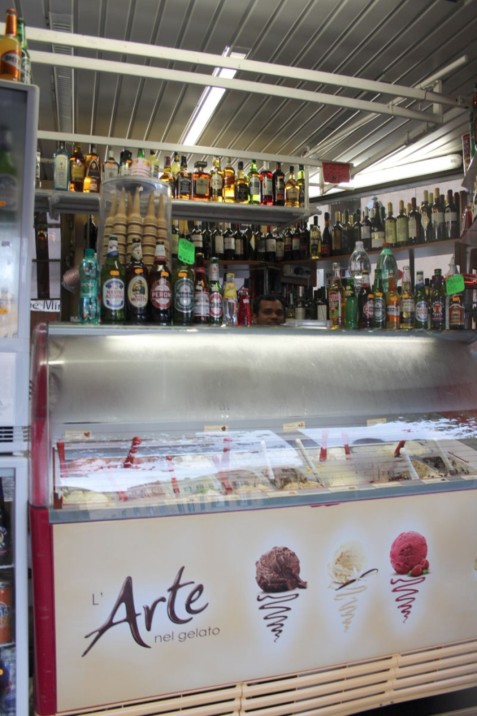Rome gelato, beer, beverages