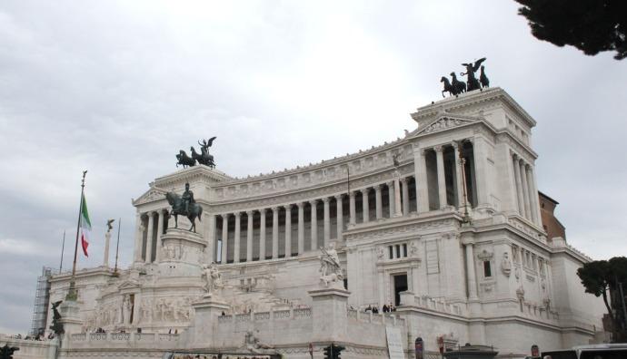 Rome horse & temple monument