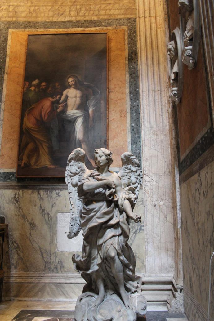 Rome Pantheon angel & painting