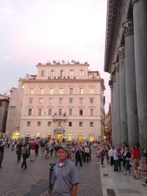 Rome Pantheon at sunset, Wally